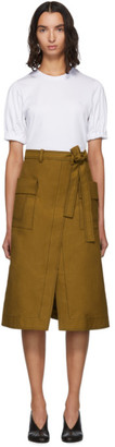 3.1 Phillip Lim White and Brown Topstitch T-Shirt Dress