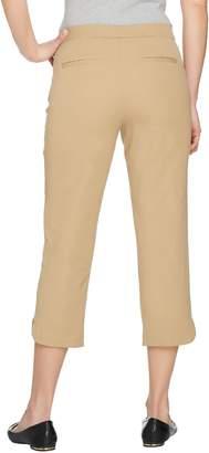Isaac Mizrahi Live! Petite 24/7 Stretch Pull-On Crop Pants