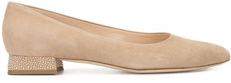 AGL Pointed Low Heeled Pumps