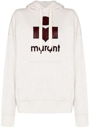 Etoile Isabel Marant Mansel metallic logo hoodie