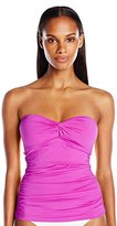 Calvin Klein Women's Twist Bandeau Tankini with Removable Soft Cups