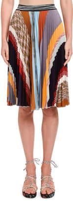 Missoni Patchwork Plisse Knee-Length Skirt