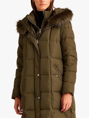 Ralph Lauren Ralph Quilted Down Fill Hooded Coat, Green