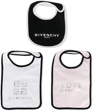 Givenchy Kids logo print bib set
