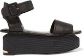 Paloma Barceló Dayane leather espadrille platform sandals