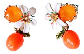 Les Nereides Multicolour Metal Earrings