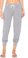 Monrow Sporty Lightning Sweatpant in Gray. - size S (also in XS)