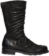 The Last Conspiracy Gathered Waxed Tall Suede Boots