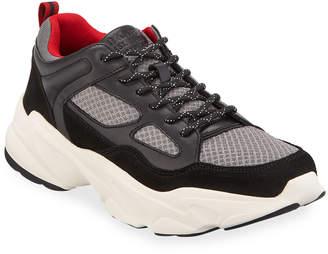 DKNY Men's Steven Mesh & Leather Sneakers