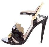 Miu Miu Patent Leather Scalloped Sandals w/ Tags