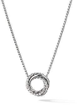 David Yurman Women's Crossover Mini Pendant Necklace With Diamonds
