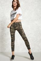 Forever 21 FOREVER 21+ Zippered Camo Print Pants