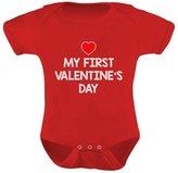 TeeStars - My First Valentine's Day - Cute Baby Grow Vest Bodysuit Baby Onesie