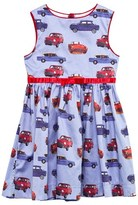 Rachel Riley Blue Car Print Dress