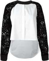 DKNY raglan lace sleeve shirt