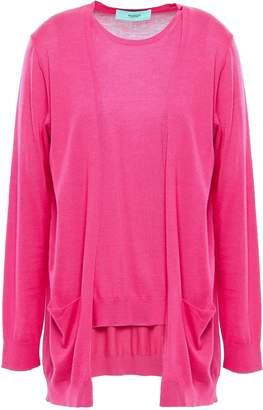Pringle Merino Wool, Silk, And Cashmere-blend Layered Sweater