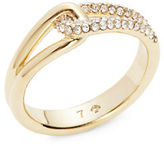 Kate Spade Get Connected Crystal Pave Loop Ring