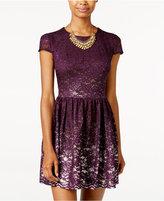 B. Darlin Juniors' Lace A-Line Dress