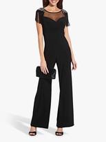 Adrianna Papell Draped Jersey Jumpsuit, Black