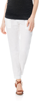 A Pea in the Pod Enza Costa Pull On Style Linen Slim Leg Maternity Pants