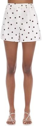 Ganni Polka Dots Cotton Poplin Shorts