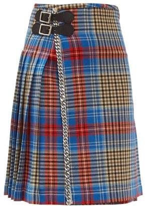 Charles Jeffrey Loverboy Loverboy Tartan Wool Kilt Mini Skirt - Womens - Beige Multi