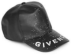 Givenchy Men's Leather Logo Baseball Cap
