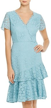 Adrianna Papell Felicity Flounced Lace Dress - 100% Exclusive