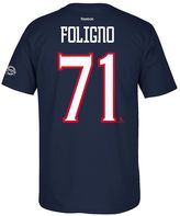 Reebok Men's Columbus Blue Jackets Nick Foligno 2017 Stanley Cup Playoffs Player Tee