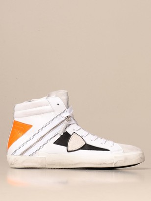 Philippe Model Paris Sneakers In Leather With Zip