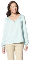 Merona Women's V-Neck Rouched Top - Assorted Colors