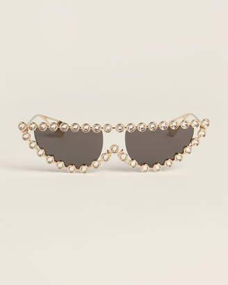 Gucci GG0364/S Gold-Tone Embellished Cat Eye Sunglasses