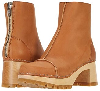Swedish Hasbeens Stitchy Boot (Nature) Women's Pull-on Boots