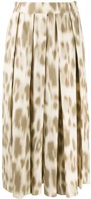 Zucca Leopard-Print Culottes