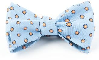 Tie Bar Half Moon Floral Light Blue Bow Tie