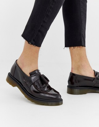 Dr. Martens Adrian tassel loafers in burgundy-Red