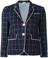 Thom Browne checked cropped blazer