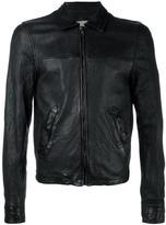 Pihakapi - leather bomber jacket - men - Lamb Skin/Viscose - M