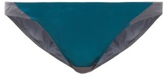 Rossell England - Sheer Angled Low-rise Silk-blend Briefs - Grey Multi