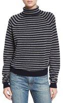 Vince Breton Striped Cashmere Sweater, Coastal/Stone