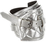 Burberry Metallic Quilted Belt
