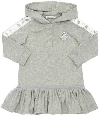 Moncler Hooded Cotton Sweater Dress