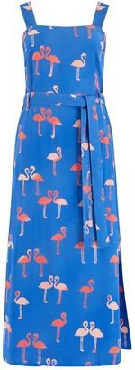 Sugarhill Brighton Elva Bermuda Flamingo Batik Midi Dress