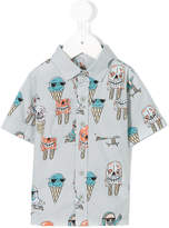 Stella McCartney Rowan Ice Cream print shirt