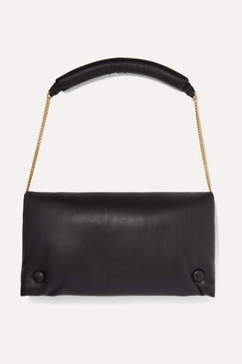 Nanushka Anjou Vegan Leather Shoulder Bag - Black