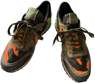 Valentino Rockrunner Orange Leather Trainers
