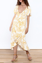 MinkPink Paradise Waterfall Wrap Dress