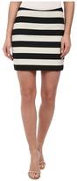 Nicole Miller Bold Stripe Mini Skirt
