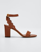 Tabitha Simmons Bobbin Scallop Ankle Heeled Sandals