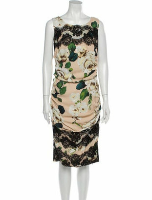Dolce & Gabbana Printed Midi Length Dress